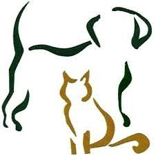 outline of dog and cat