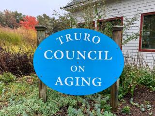 Truro Council on Aging sign